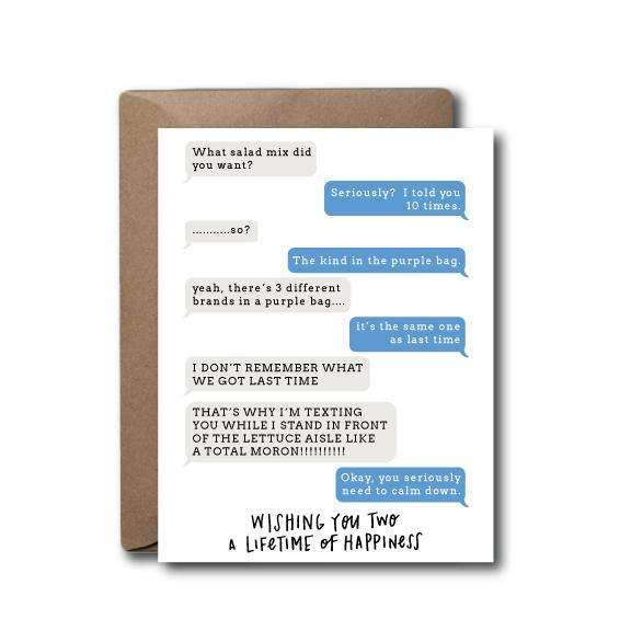 Marriage Text Happiness Anniversary Wedding Card - JoeyRae