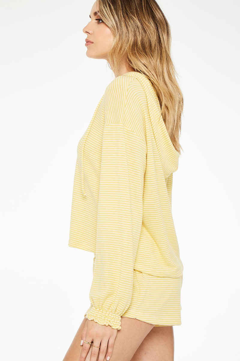Kenni Smocked Cozy Hoodie Sunflower - JoeyRae