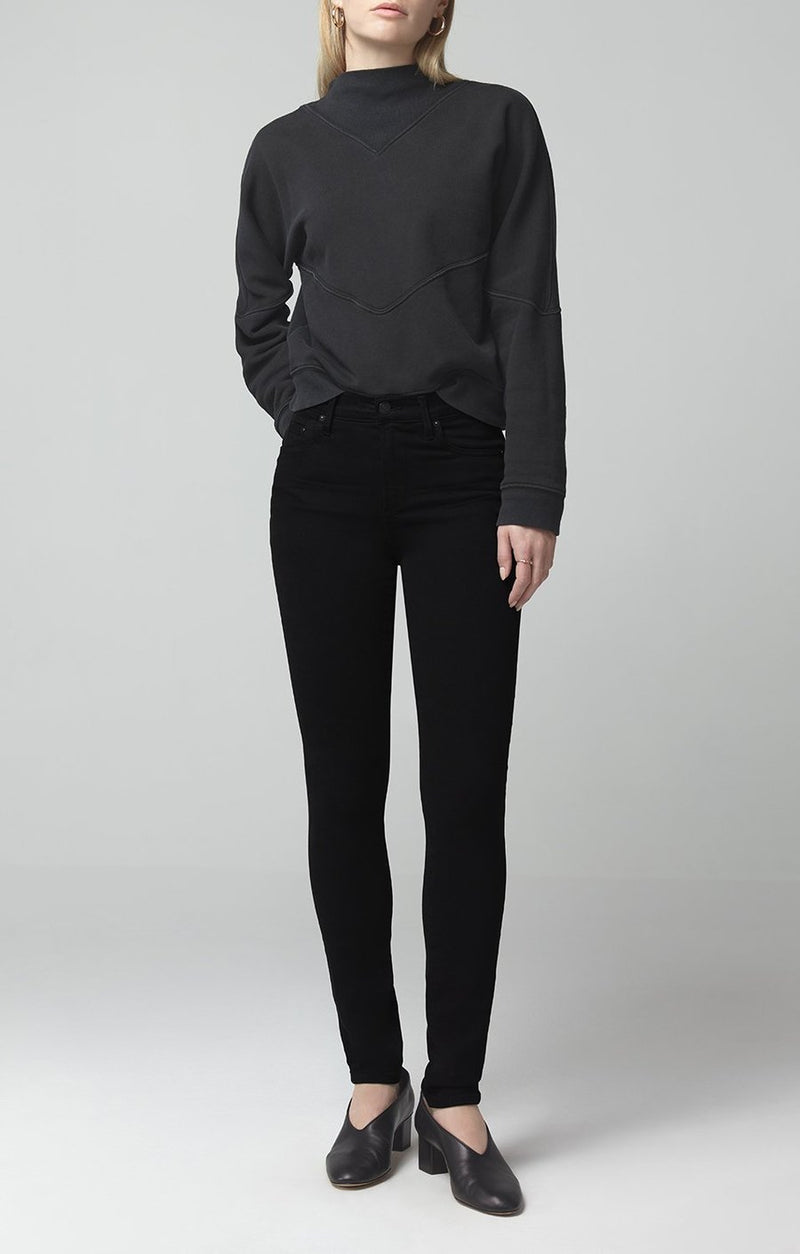 Rocket Mid Rise Skinny Fit Plush Black - JoeyRae