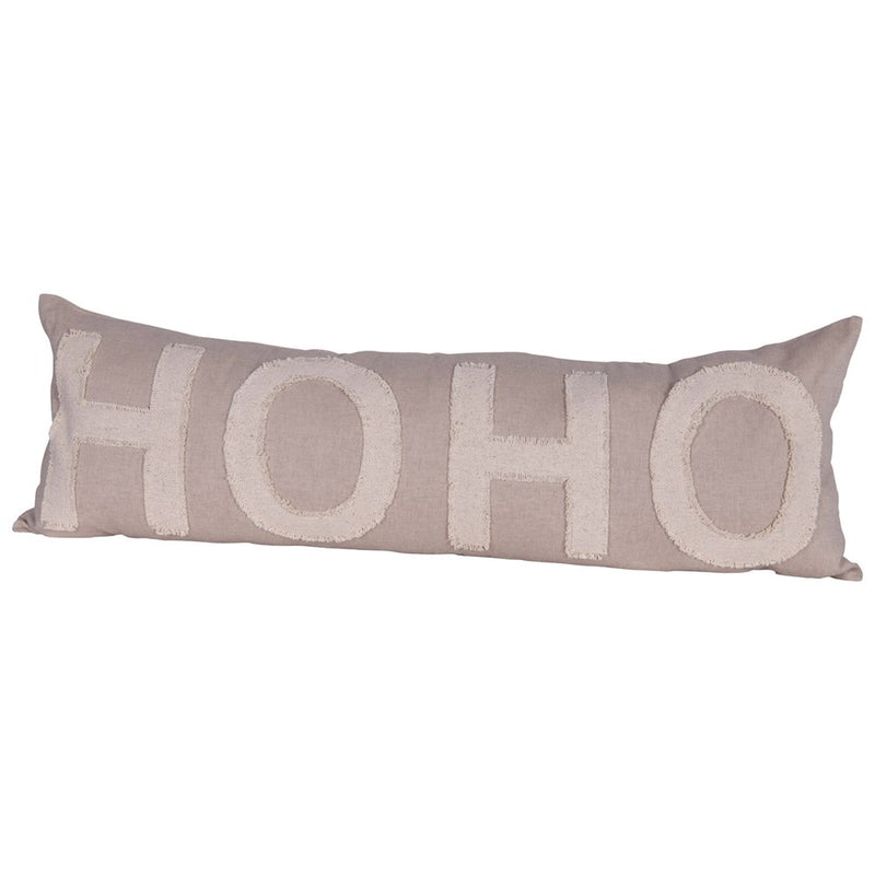 Lumbar Cotton Chambray HO HO Pillow