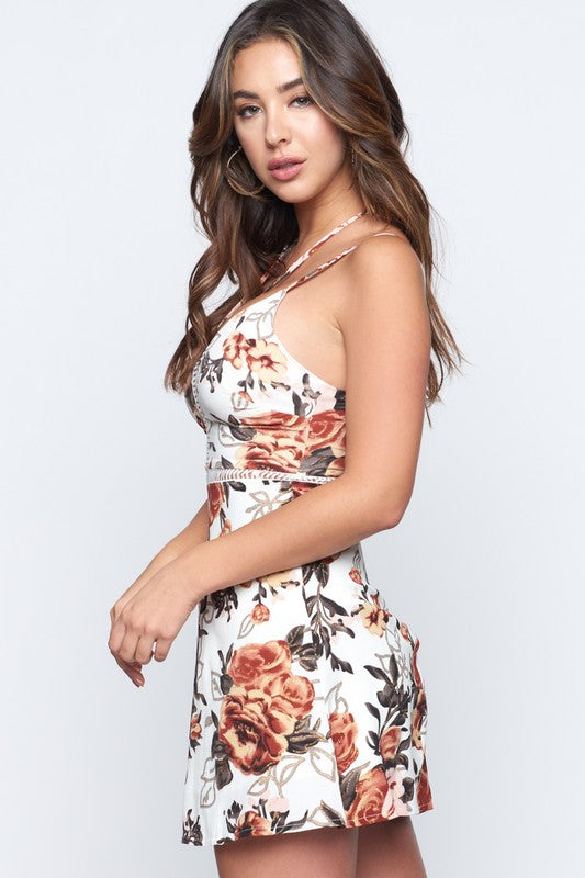 Emmy Floral Print Mini Dress