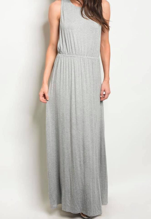 Perfect Braid Maxi Dress (Heather Grey)