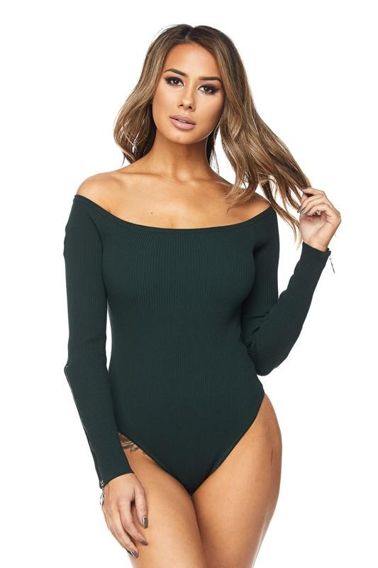 Hunting For you Knit Bodysuit - Dapper Dearest