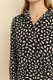 Catalina Petal Print Top