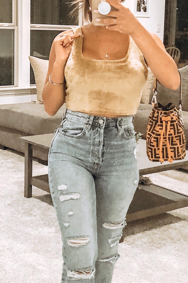 Bellagio Velvet Crop Top