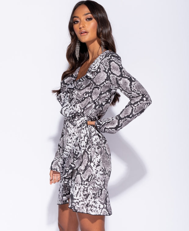 What A Gal Snake Print Dress