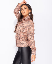 Michaele Printed Bow Top