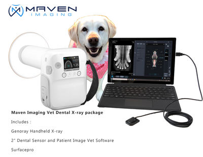 Genoray Dental X-ray and  MasterDent: Dental Sensor size 2 with software and a Surface Pro 7