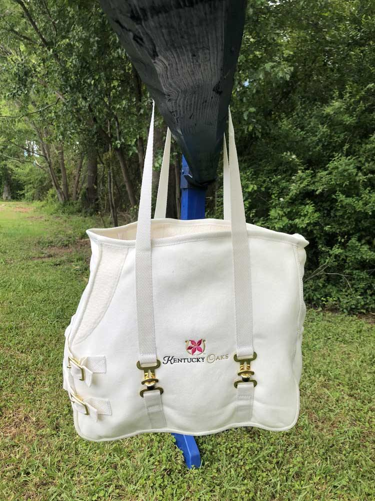 Clearance-EquSuede Tote Kentucky Derby