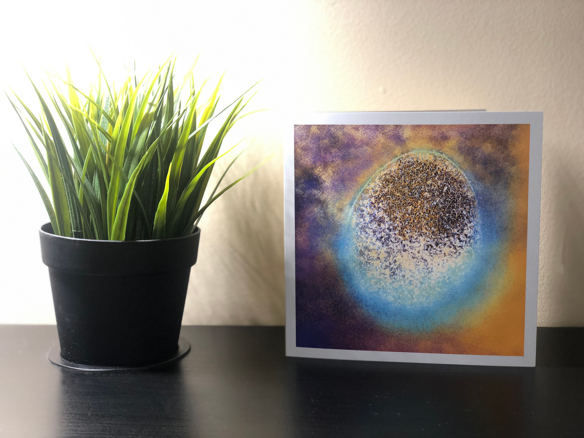 Artwave Postcard with Décor in background. Send beauty to your loved ones.