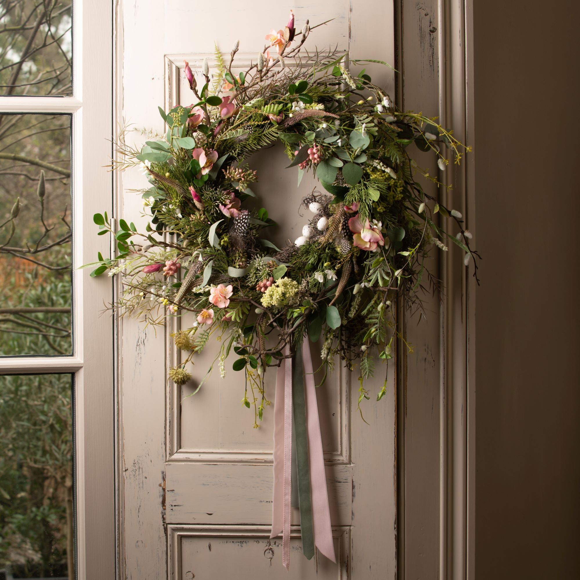 Pink Blossom Spring Wreath