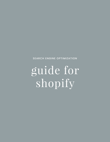 SEO Guide for Shopify