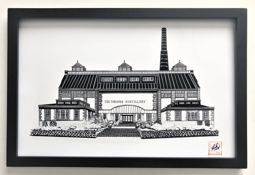Tormore Distillery - Print - Various Sizes