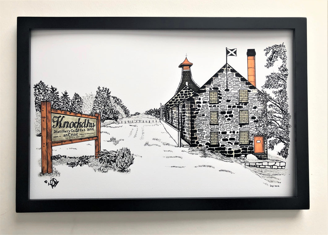 Knockdhu Distillery - Print - 11x17