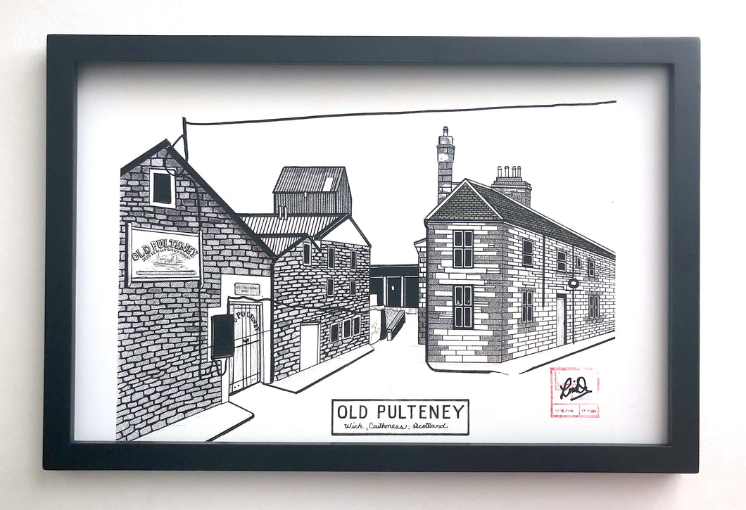 Old Pulteney Distillery - Limited Print - 11x17