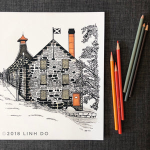Knockdhu Distillery - Print - 11x17""
