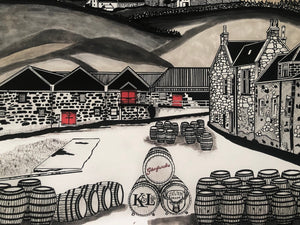 Glenfarclas Whisky Label - Limited Print - 16x20""