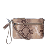 Crossbody clutch | Serpentes  01POUCH Beige