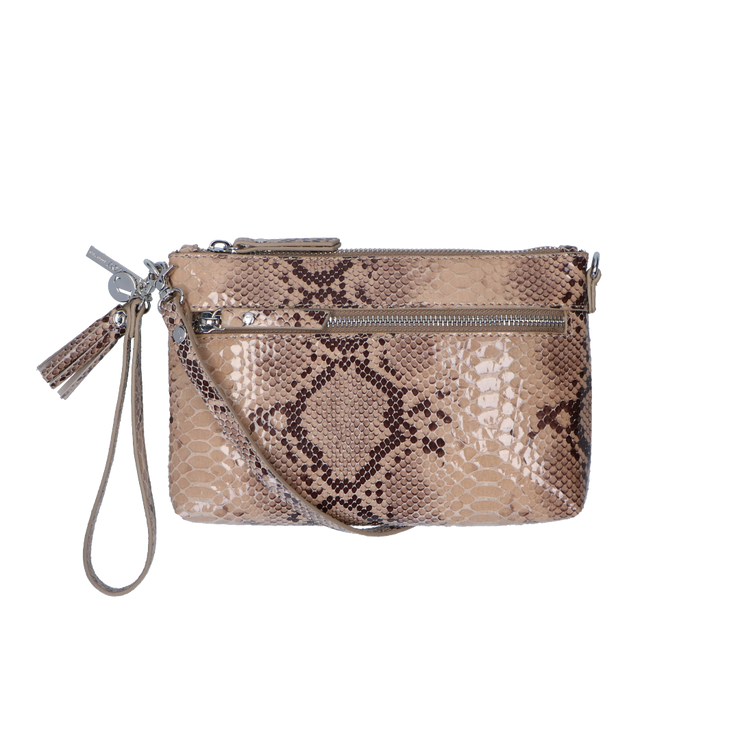 Crossbody clutch Serpentes 01POUCH Beige