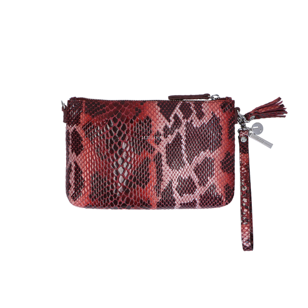 Crossbody clutch Serpentes 01POUCH Red
