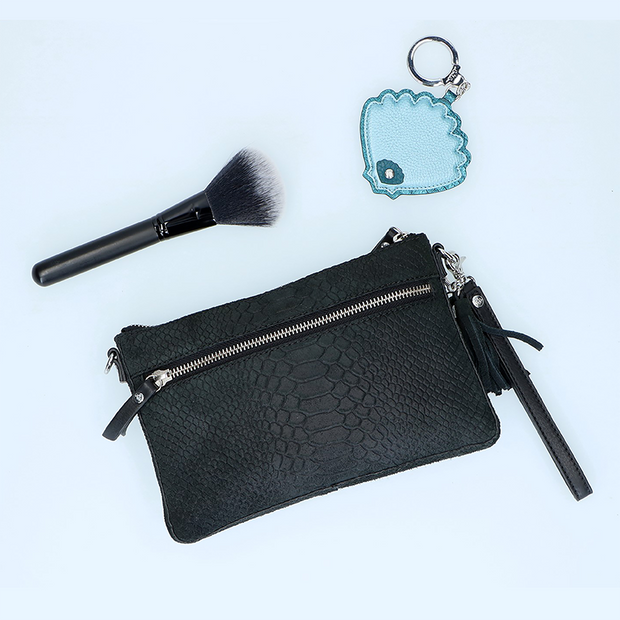 Crossbody clutch | Sugar Snake 01POUCH Black