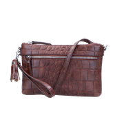 Crossbody | Vintage Croco 01POUCH Brown