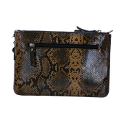 Crossbody Clutch I Serpentes 05Crossbody Musterd Silver