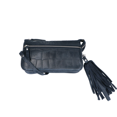 Crossbody | Vintage Croco 11BAG Dark Blue