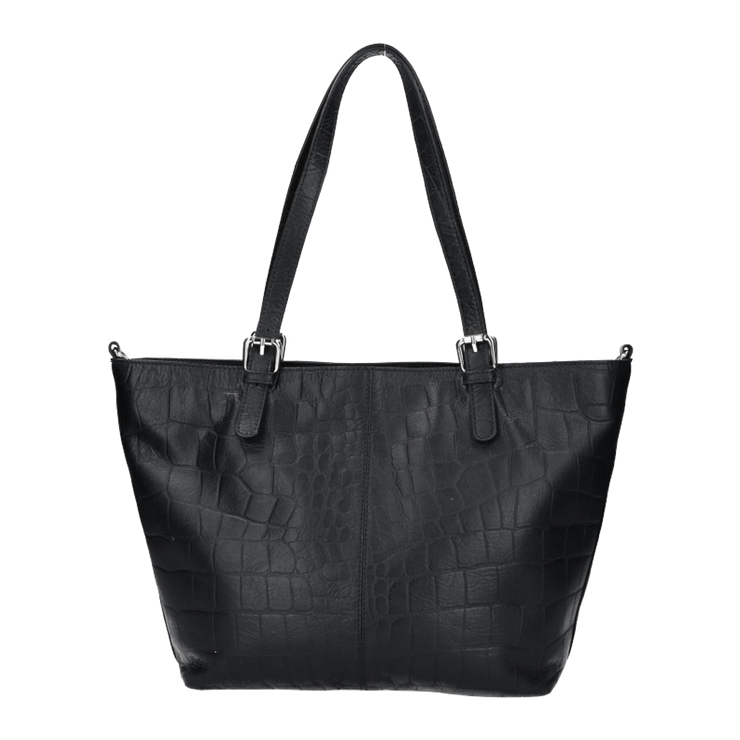 Schoudertas | Vintage Croco 19BAG Black
