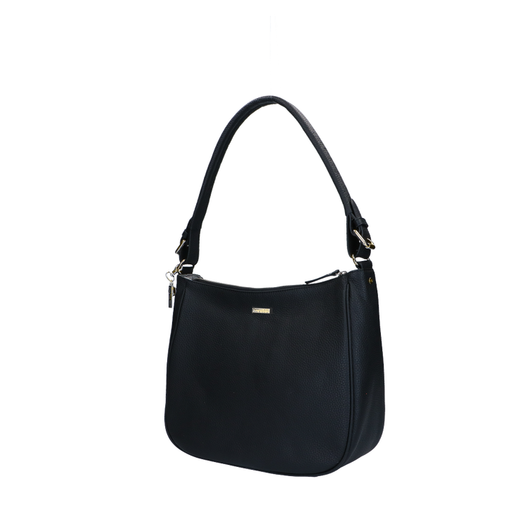 Schoudertas | Beau Veau Light Gold 46BAG Black