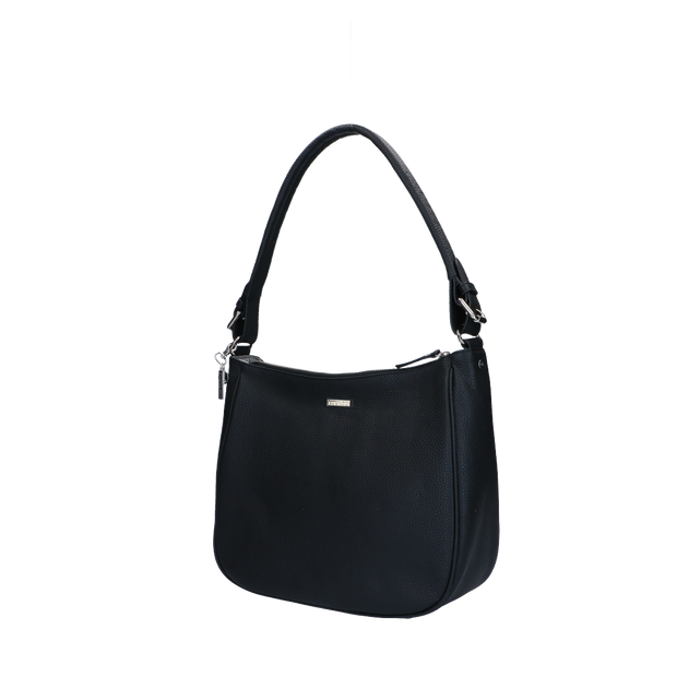 Schoudertas | Beau Veau Silver 46BAG Black