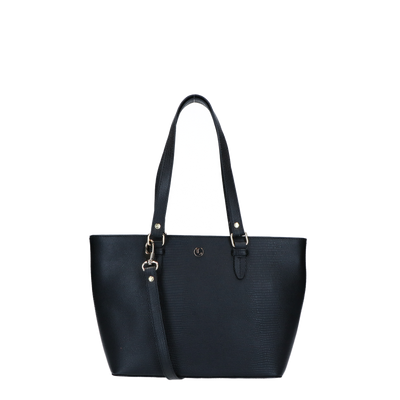 Shoulder bag | Lovely Lizard Light Gold 63BAG Black