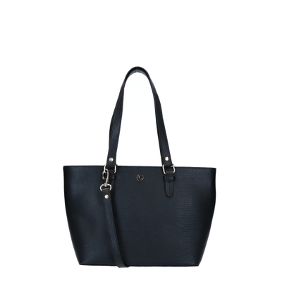 Schoudertas | Lovely Lizard Silver 63BAG Black