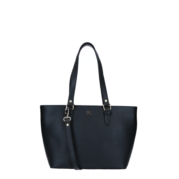 Shoulder bag | Lovely Lizard Silver 63BAG Black