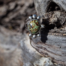 Green And Gold Hubei Turquoise Ring