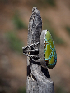 Green Blue Rust Hubei Turquoise Ring