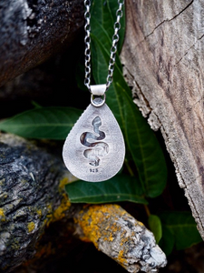 Crazy Lace Agate Snake Necklace