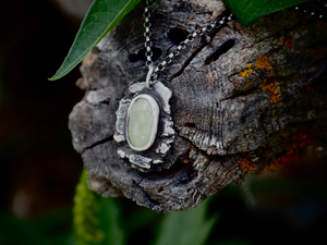 White/Yellow Sapphire Primal Earth Necklace