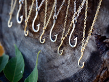 STERLING SILVER Fish Hook Necklace