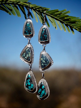 Droplet Earrings - New Lander Variscite, Desert Bloom