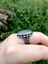 Sunlit Moon Ring - Size 7 - Midnight Quartz