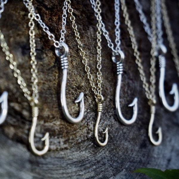 GOLD Fish Hook Necklace