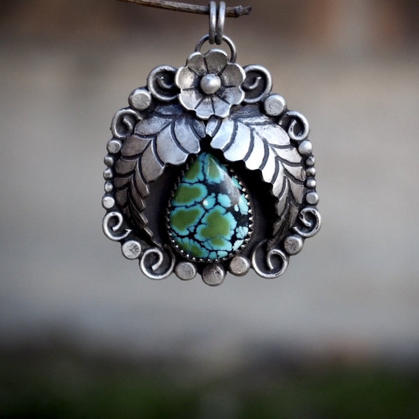 Floral Turquoise Necklace