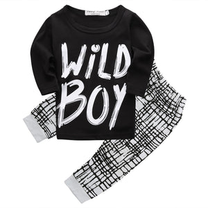 2016 autumn baby boy clothes Long sleeve Top + pants 2pcs sport suit baby clothing set newborn infant clothing bebe-eosegal