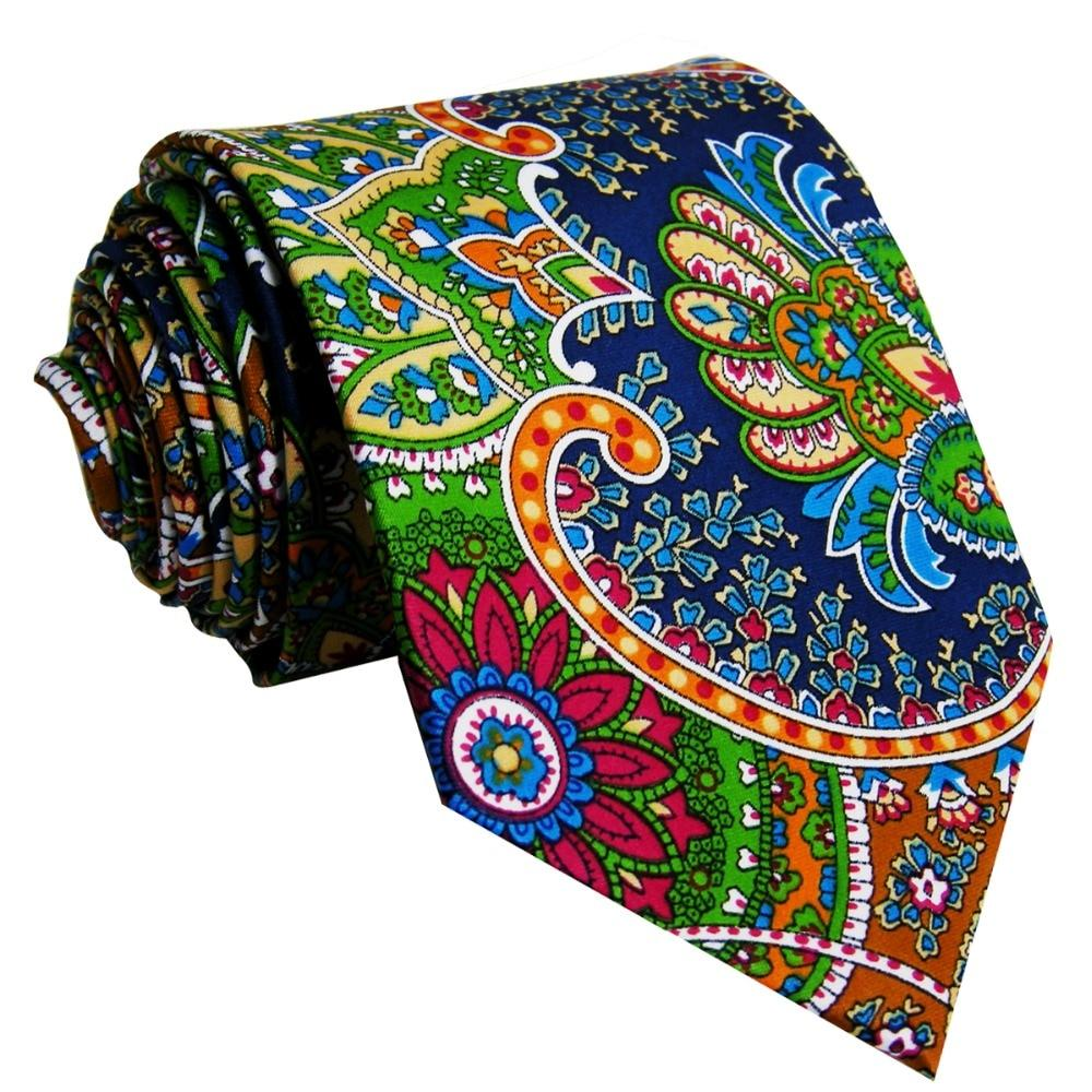 u31 Paisley Multicolor Red Green Yellow Blue Mens Ties Necktie 100% Silkeosegal-eosegal