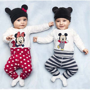 2015 New Fashion Baby Boy Clothing Set (Romper+Hat+Pants) Infant Newborn Baby Girls Clothes Suit Roupas De Bebe Jumpsuit-eosegal