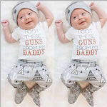 3pcs Toddler Baby Boys Girls Cotton T-Shirt Short Sleeve Pants Hat Casual Clothes Outfits Set-eosegal