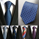 (1pieces/lot) 100% silk necktie corbatas hombre 2016 neck ties plaid mens tieeosegal-eosegal