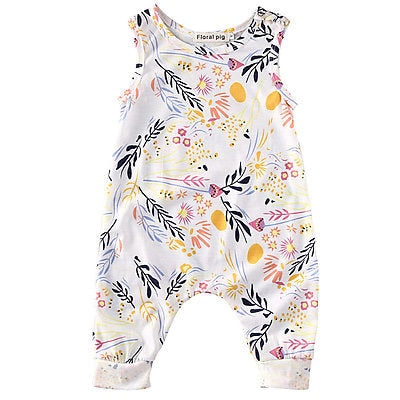 Fashion Newborn Kids Toddler Baby Girl Clothes Sleeveless Romper Floral Jumpsuit Playsuit Sunsuit-eosegal