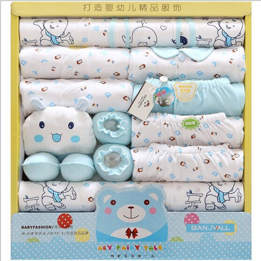19 Piece 100% Cotton Baby Newborns Gift Set Baby Girl Clothes Sets Spring And Summer Character O-NockLong Sleeve Baby Hot Sale-eosegal